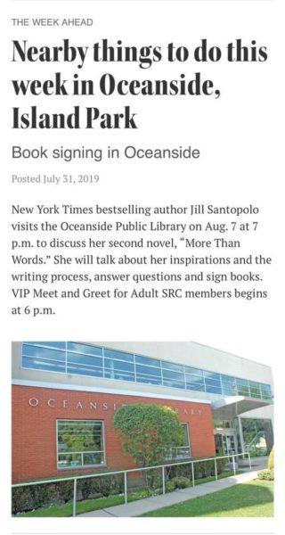 Book Signing in Oceanside