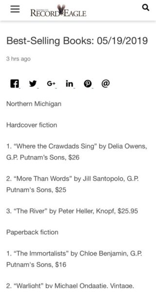 More Than Words is a Bestseller