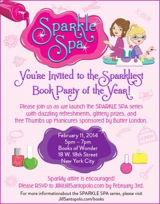 It's an Invite to a Sparkle Spa Series Launch Party!