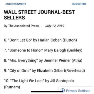 Wall Street Journal Best Sellers List